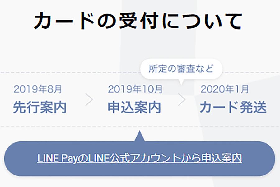 7.カード申し込み開始日と発送予定日
